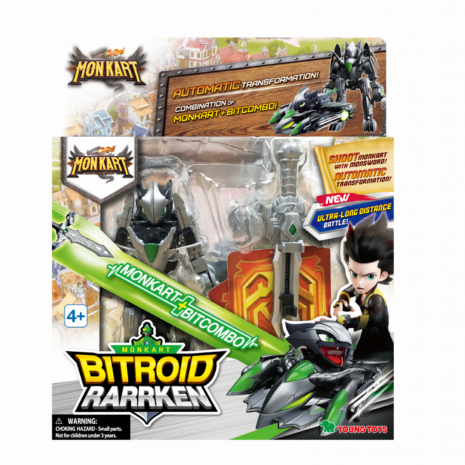 YOUNG TOYS MONKART Robot-Transformer Bitroid Rarrken