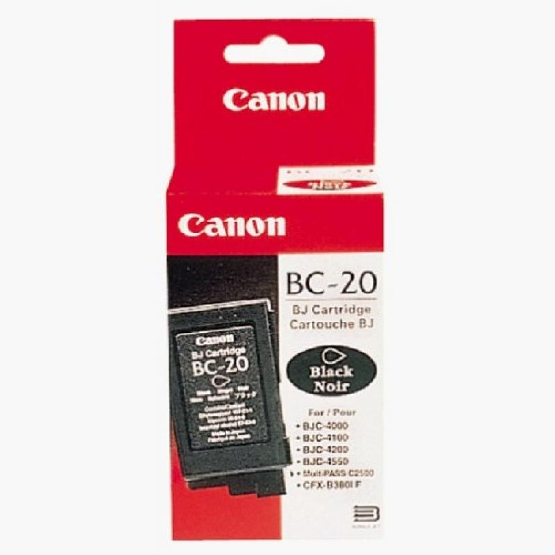 INK CARTRIDGE BLACK BC-20/0895A002 CANON
