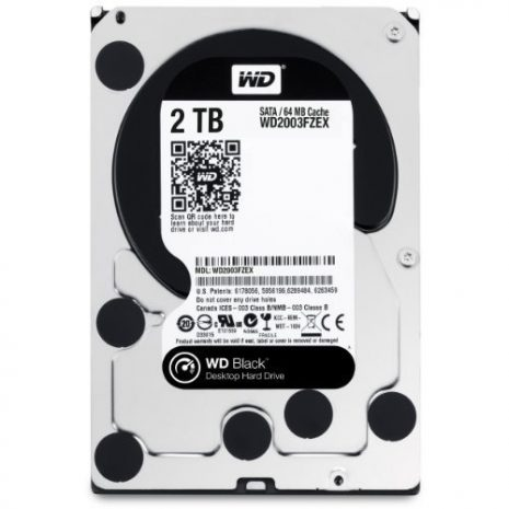 HDD|WESTERN DIGITAL|Black|2TB|SATA 3.0|64 MB|7200 rpm|3,5″|WD2003FZEX