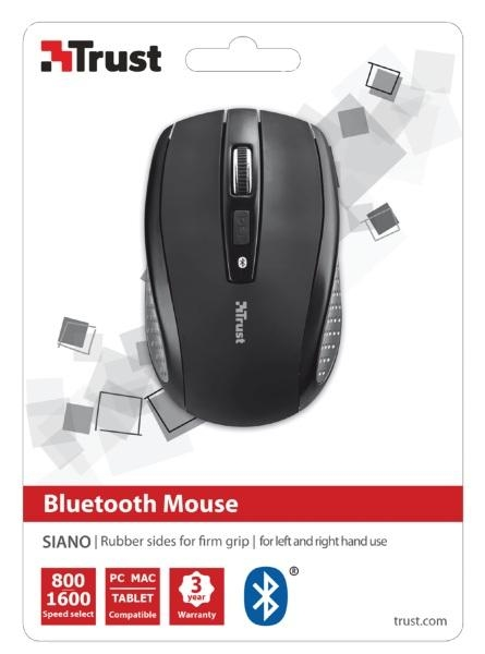 MOUSE BLUETOOTH SIANO WRL/BLACK 20403 TRUST