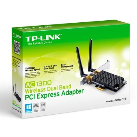WRL ADAPTER 1300MBPS PCIE/DUAL BAND ARCHER T6E TP-LINK