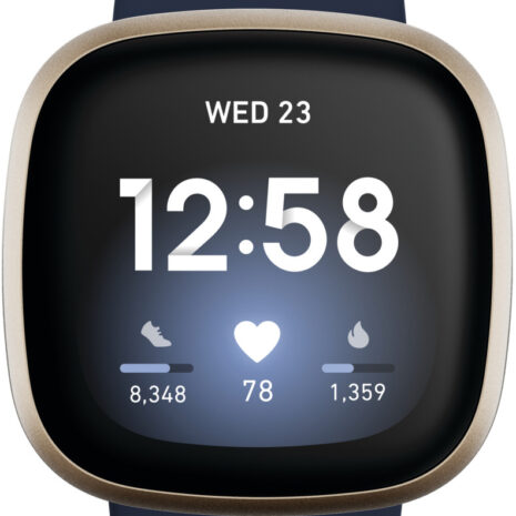 Fitbit Versa 3, midnight/soft gold aluminium