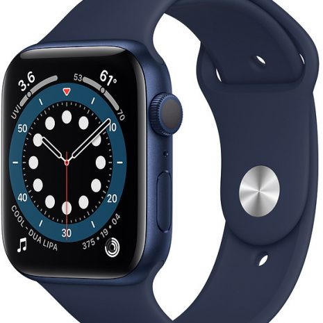 Apple Watch 6 GPS 44mm Sport Band, blue/deep navy