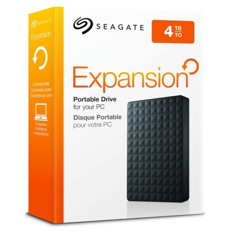 External HDD|SEAGATE|Expansion|4TB|USB 3.0|Colour Black|STEA4000400